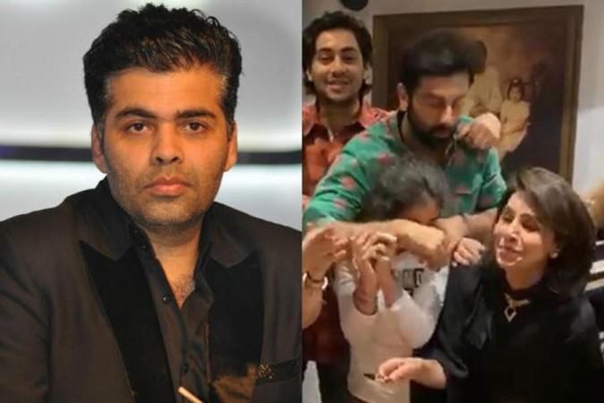 Karan Johar op de verjaardag van Neetu Kapoor