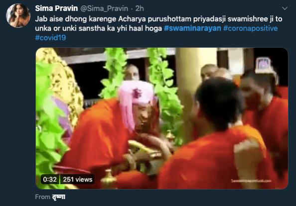 Is Swaminarayan Sanstha hoofd dood '