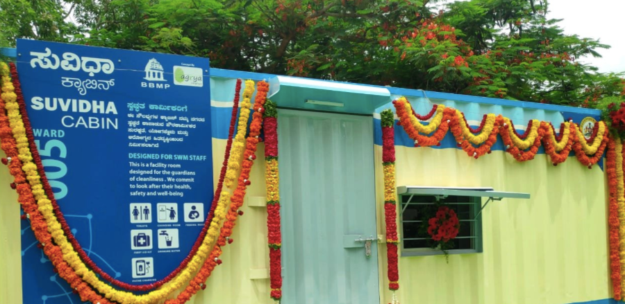 Is BBMP buying Rs 80,000 worth container for Rs 8 lacs a piece; Suvidha cabins for Pourakarmikas