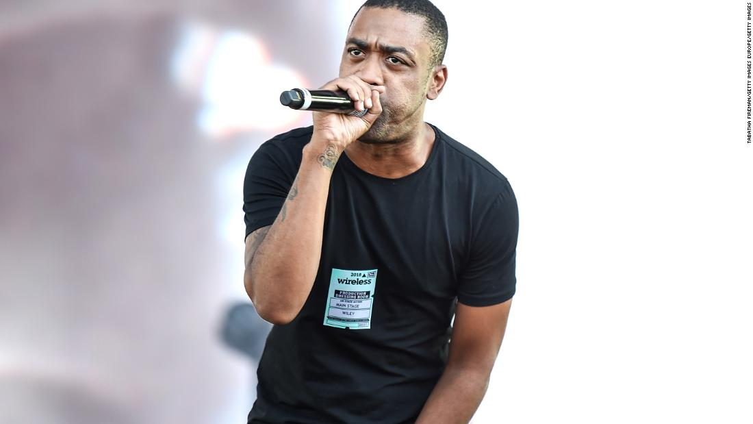 The grime artist Wiley performs at Wireless Festival in London, England, on July 6, 2018.