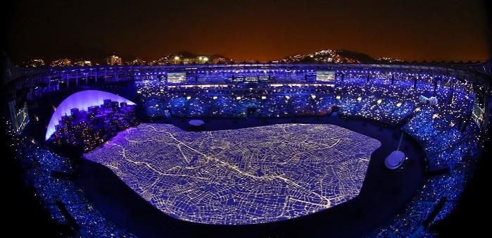 Openingsceremonie van de Olympische Spelen in Rio