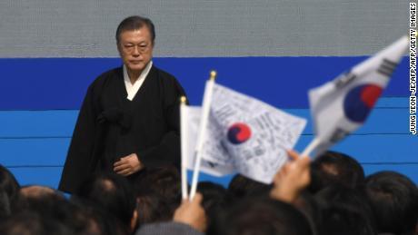 """""""Wrede behandeling en misbruik van sporters zijn erfenissen van weleer die met geen enkel woord te rechtvaardigen zijn,"""" zei president Moon Jae-in."""