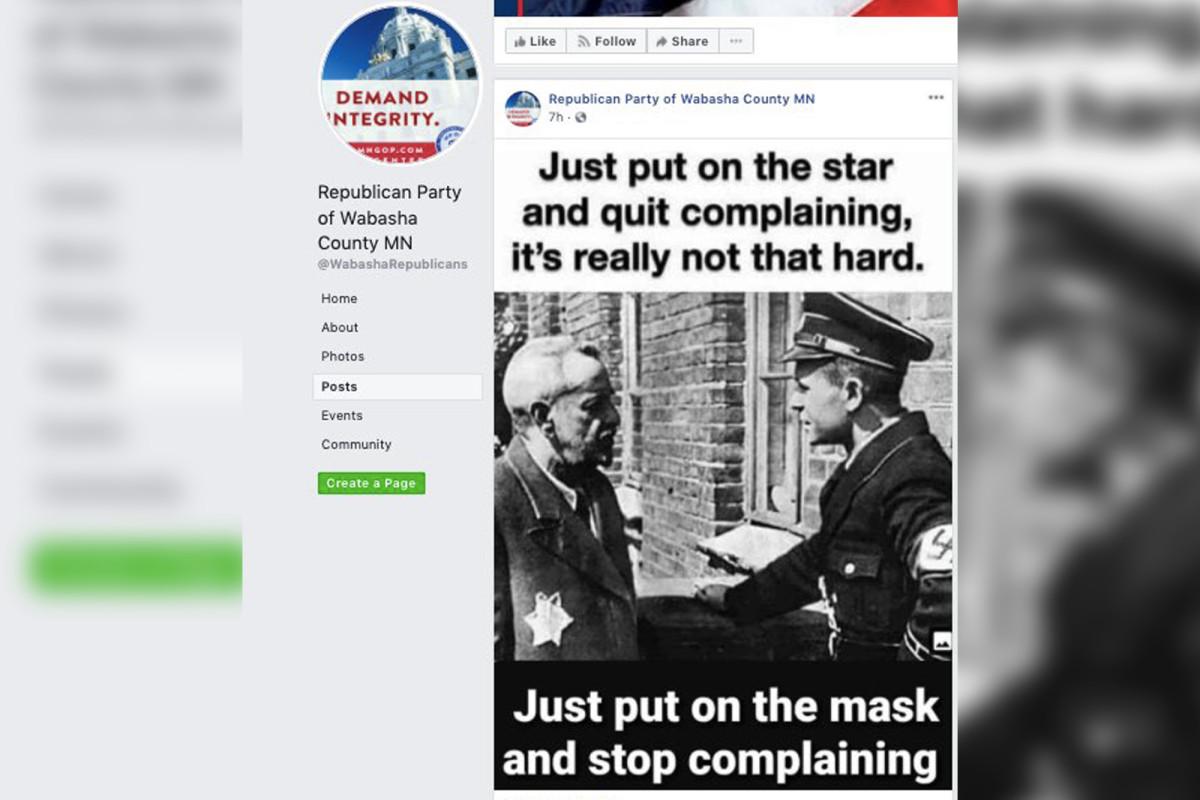 De GOP-functionaris in Minnesota treedt af tijdens een nazi-post over het mandaat van het masker