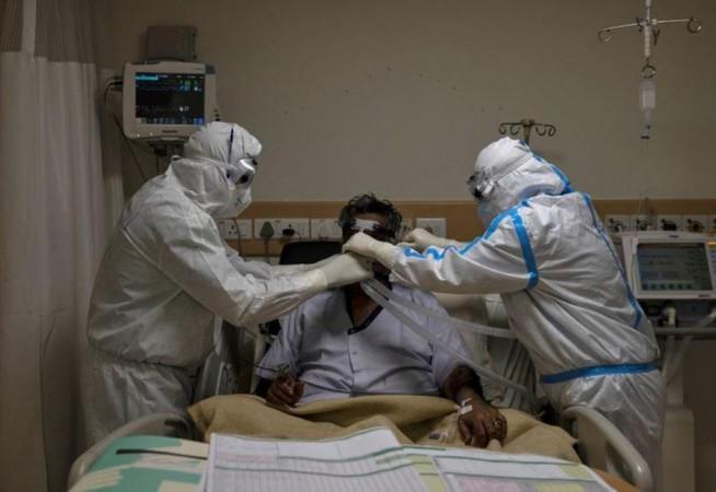 Coronavirus patiënt in het ziekenhuis