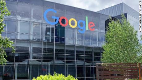 Hoofdkantoor van Google in Mountain View, Californië. Het Android-besturingssysteem van het bedrijf is goed voor 91% van de mobiele besturingssystemen die in India worden gebruikt.