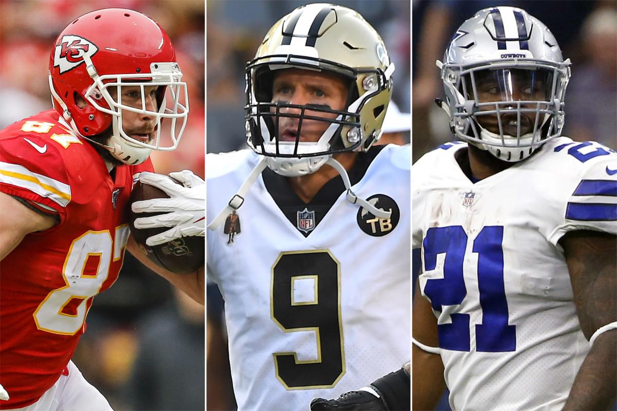 Het rangschikken van de meest dynamische trio's van vaardigheidsposities van de NFL