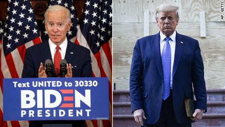Uit de peilingen blijkt dat Biden een absolute favoriet is 100 dagen na een ongekende verkiezing