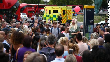 Honderden waren aanwezig bij de rally in Hyde Park.
