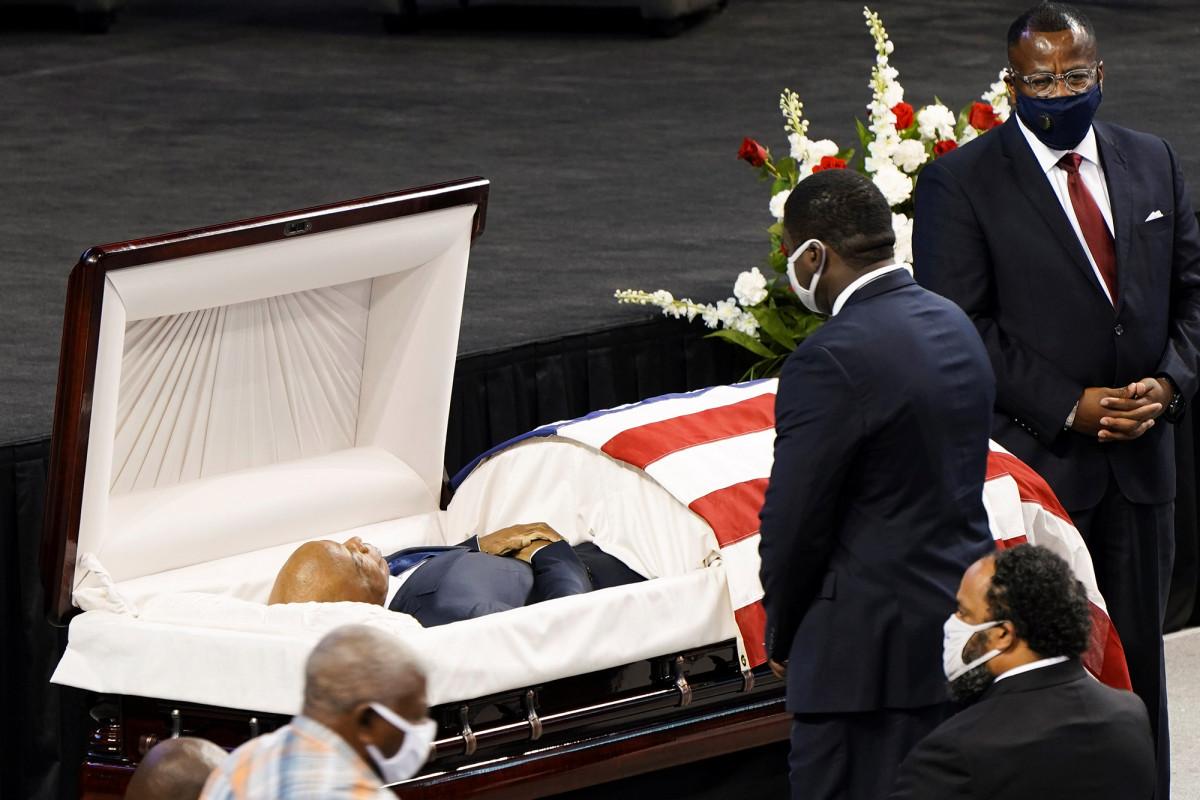 Rep. John Lewis geëerd tijdens een ceremonie in de geboorteplaats van Alabama