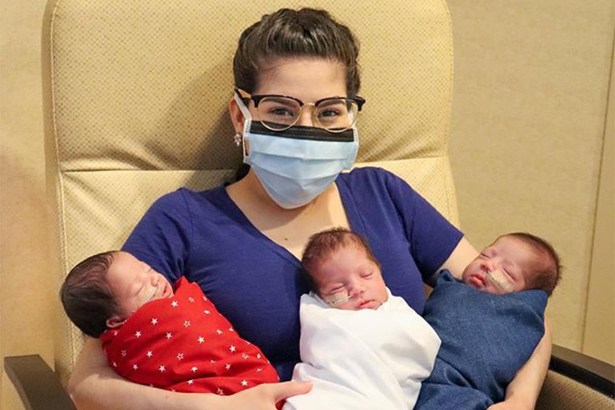 Vrouw uit Texas verslaat coronavirus - levert vervolgens gezonde drielingen