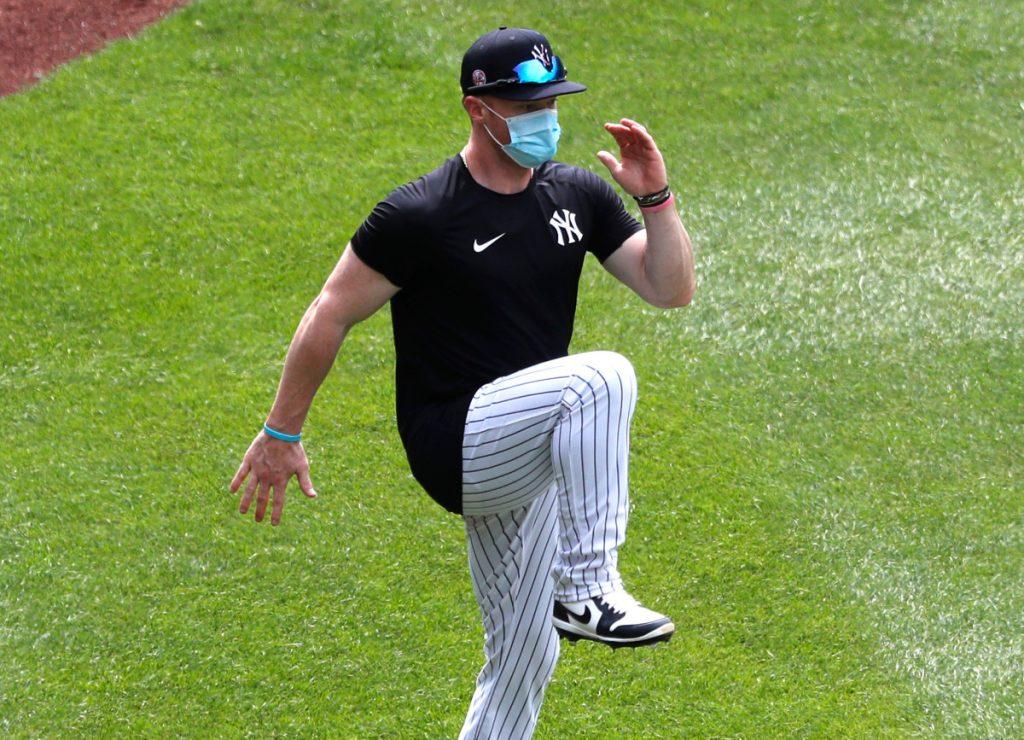 Yankees 'Clint Frazier vecht tegen' een beetje plantaire fasciitis '