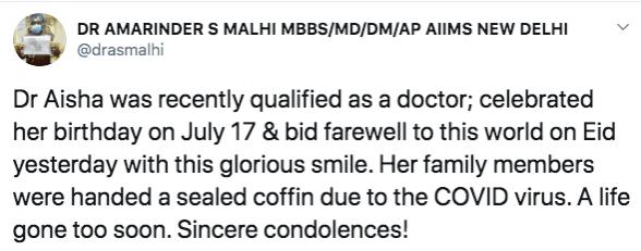 Tweet op Dr. Aisha