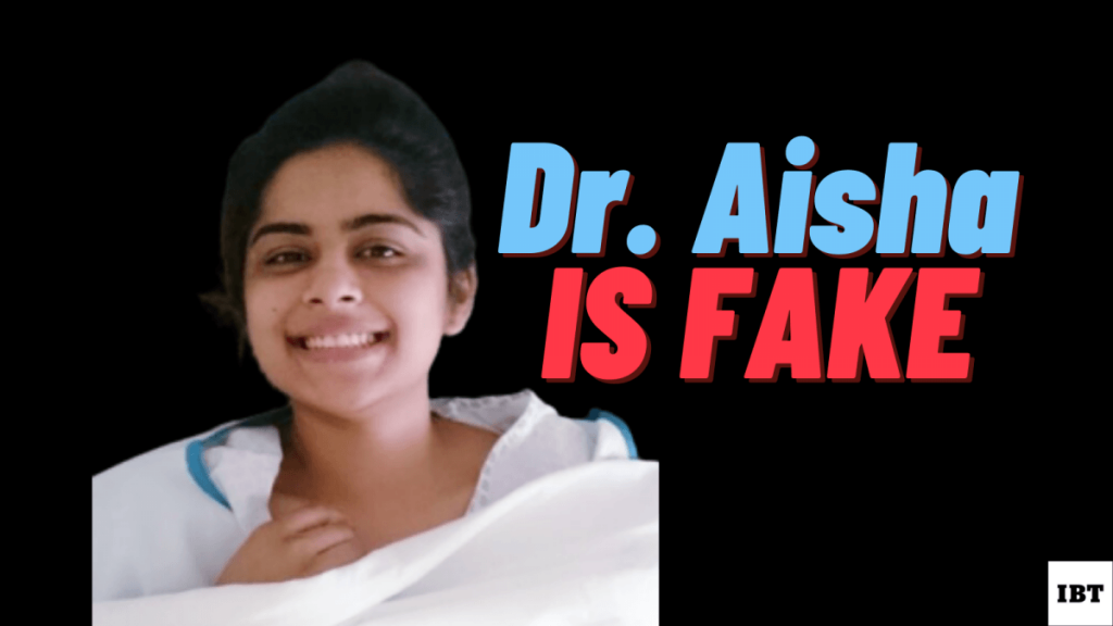 Dr. Aisha does not exist