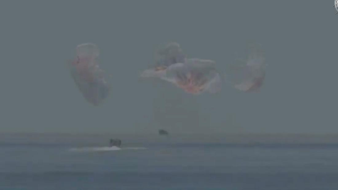 NASA astronauts splash down after historic SpaceX mission
