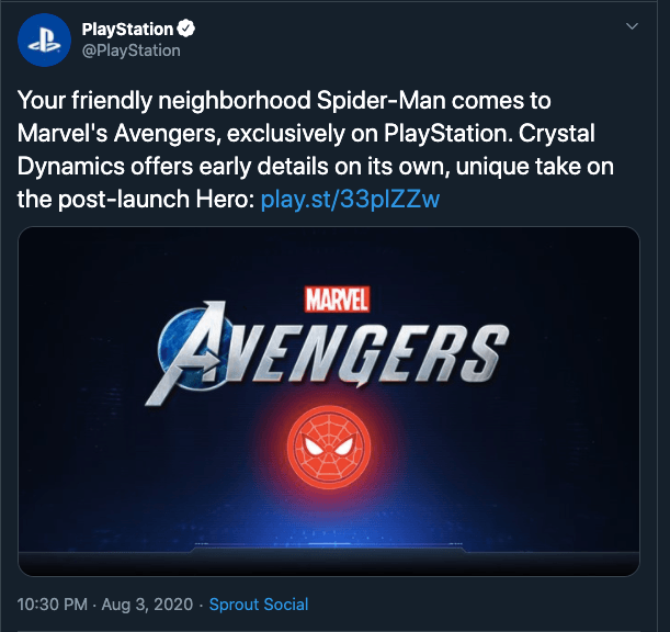 Spider-Man in Avengers video game