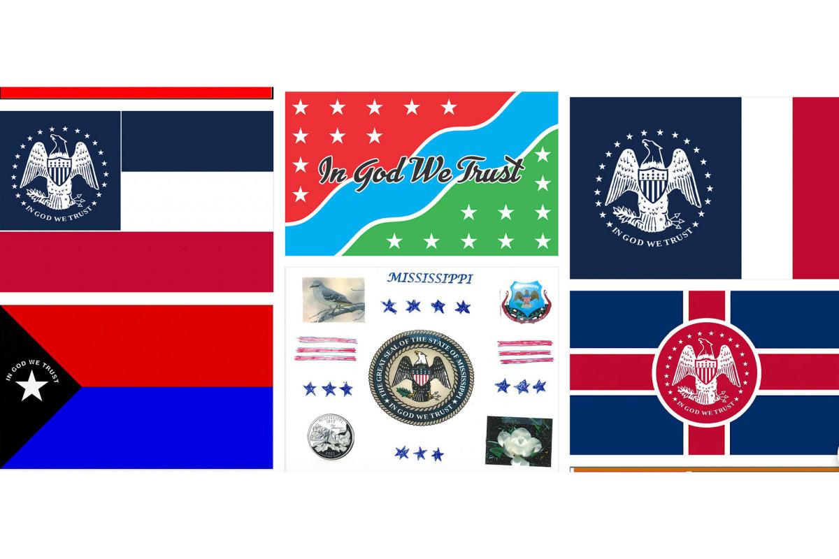 Inzendingen voor de nieuwe vlag van Mississippi zijn onder andere Elvis Presley
