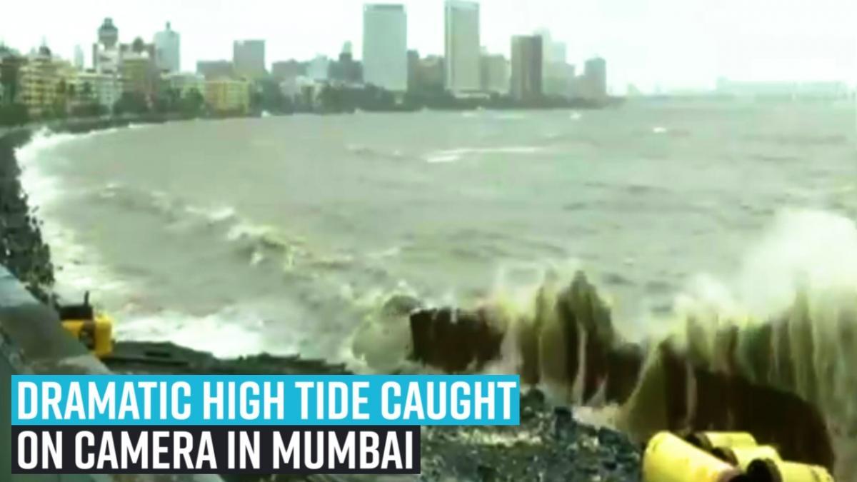 Mumbai sinking: High tide hits Marine Drive, roads flooded, landslide at Malabar Hill