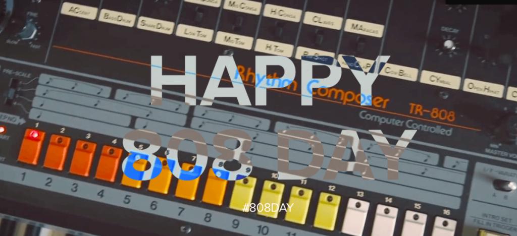 Viering van 40 jaar Roland TR 808 als 808-dag; kijk hoe het moet