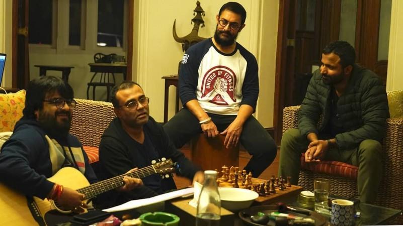 Aamir Khan met muzikanten van Laal Singh Chaddha