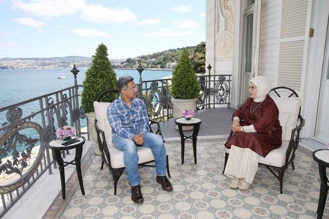 Bollywood-superster Aamir Khan ontmoet de Turkse First Lady Emine Erdogan