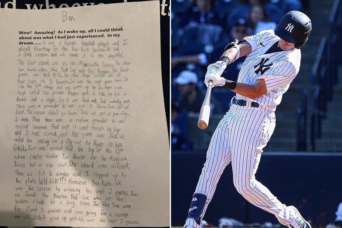 Yankees hopen dat de levenslange droom van Ben Ruta wordt gestaakt door het coronavirus
